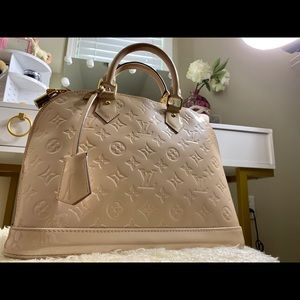 Louis Vuitton monogram pastel pink tote handbag